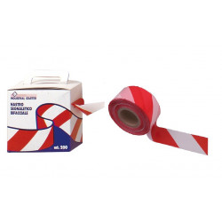 SIGNALLING TAPE RED / WHITE