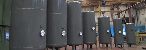 Depósitos de aire pintados