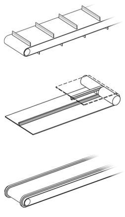 Colocacion de guias y perfiles en cintas transportadoras