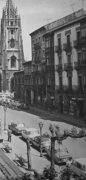 Antigua Plaza Porlier en Oviedo en 1970