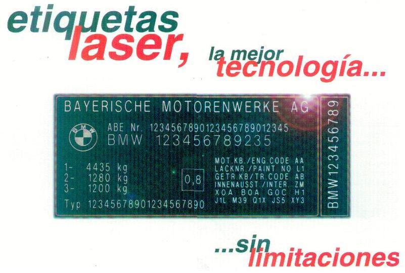 Etiquetas Laser Inviolables tesa